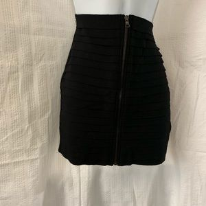 """Boom Boom jeans"" black pencil skirt front zipper"